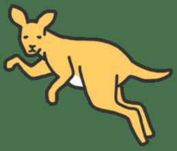 Kangaroo is watching sticker #402459