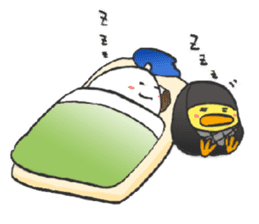 egg-samurai&chick-ninja sticker #402638