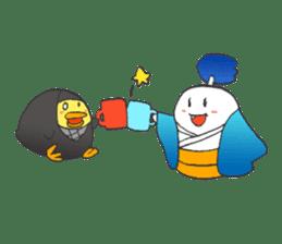 egg-samurai&chick-ninja sticker #402641