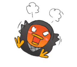 egg-samurai&chick-ninja sticker #402643