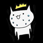 สติ๊กเกอร์ไลน์ Surprise!! Stupid cat coming!!