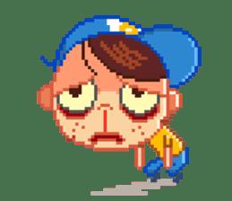 mr dot ms pixel by bluecab net sticker 405886