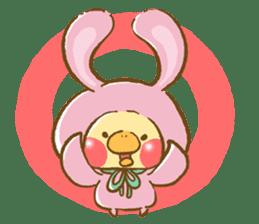 You are Chick? No, I'm rabbit. sticker #407369