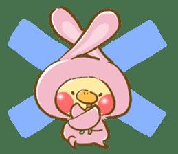 You are Chick? No, I'm rabbit. sticker #407370