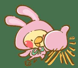 You are Chick? No, I'm rabbit. sticker #407371
