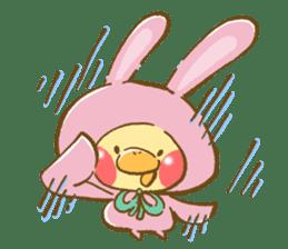You are Chick? No, I'm rabbit. sticker #407372