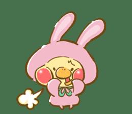 You are Chick? No, I'm rabbit. sticker #407373