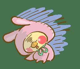 You are Chick? No, I'm rabbit. sticker #407382