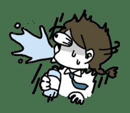 Mie Mie The funny girl sticker #409290