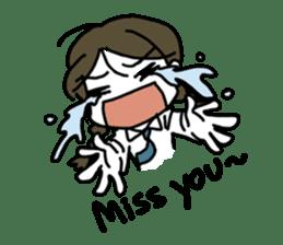 Mie Mie The funny girl sticker #409294