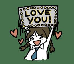 Mie Mie The funny girl sticker #409298