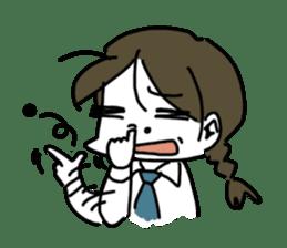 Mie Mie The funny girl sticker #409309