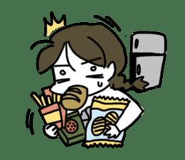 Mie Mie The funny girl sticker #409311