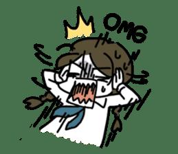 Mie Mie The funny girl sticker #409318