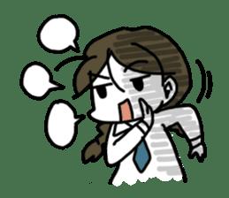Mie Mie The funny girl sticker #409321