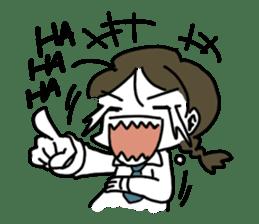 Mie Mie The funny girl sticker #409322