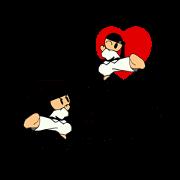 สติ๊กเกอร์ไลน์ I love taekwondo