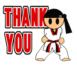 I love taekwondo sticker #409994