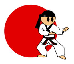 I love taekwondo sticker #410007