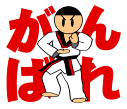 I love taekwondo sticker #410012