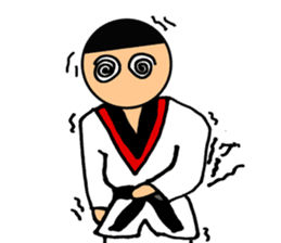 I love taekwondo sticker #410016