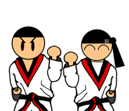 I love taekwondo sticker #410023