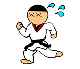 I love taekwondo sticker #410030