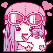 สติ๊กเกอร์ไลน์ MIMIO's cheerful life