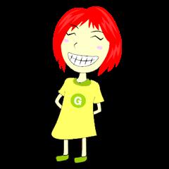 Green Cyber Thai Sticker