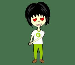 Green Cyber Thai Sticker sticker #410905