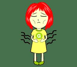 Green Cyber Thai Sticker sticker #410907