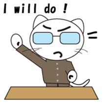 Serious cat GARIO sticker #411256