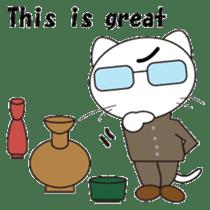 Serious cat GARIO sticker #411261