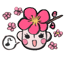 Flower people sticker #411569