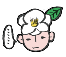 Flower people sticker #411572