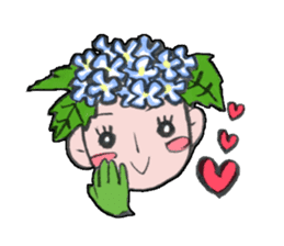 Flower people sticker #411577