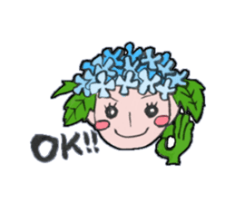 Flower people sticker #411583
