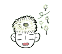 Flower people sticker #411587