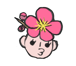 Flower people sticker #411591