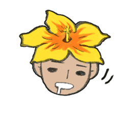 Flower people sticker #411594