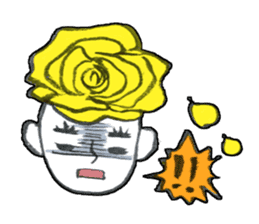 Flower people sticker #411604