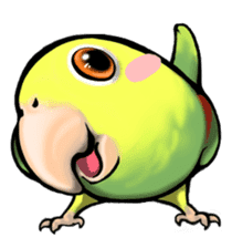 The parrot's name is Gabi & his friends sticker #412256