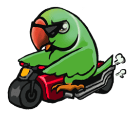 The parrot's name is Gabi & his friends sticker #412260