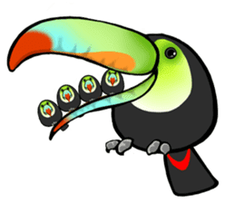 The parrot's name is Gabi & his friends sticker #412269