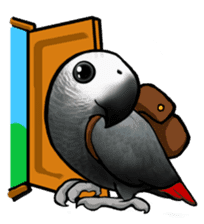 The parrot's name is Gabi & his friends sticker #412276