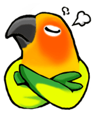 The parrot's name is Gabi & his friends sticker #412282