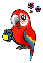 The parrot's name is Gabi & his friends sticker #412285