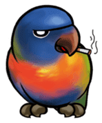 The parrot's name is Gabi & his friends sticker #412286