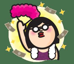 Woman of round shape sticker #412826