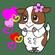 Love cows   Onpu-chan&Friends sticker #413076
